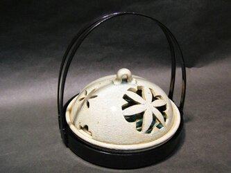 青唐津蚊取り線香入れ(手提げ盆付き)の画像