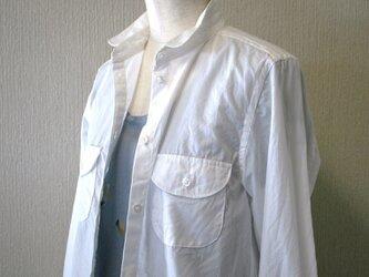 【受注生産】コンパクトワークシャツ [ホワイト]の画像