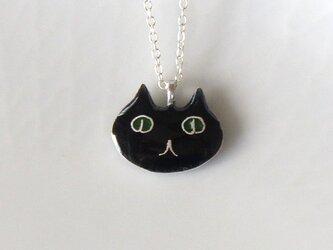 黒猫ネックレス(顔)の画像