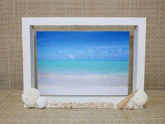 砂浜のフォトフレームの画像
