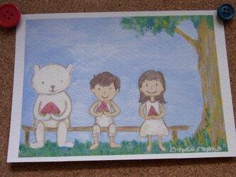 夏のポストカードの画像