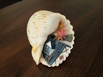 貝がら ミニチュア 屋根の上の画像