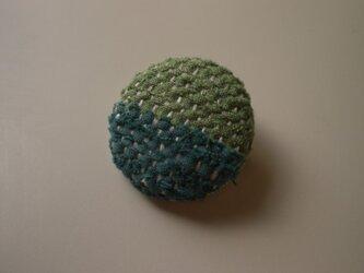 裂き織りブローチ『グリーン系2色』の画像