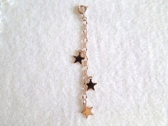 三つ星のネックレスアジャスター PGの画像
