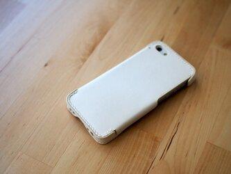 iPhone5s/5 レザーケース(ホワイト)の画像