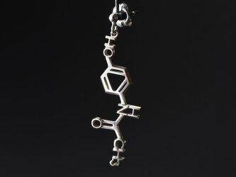 アセトアミノフェン 化学式ピアス®片耳 (イヤリング変更可)の画像
