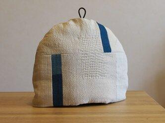 【M様ご予約】藍染めのつなぎ布のティーコゼーの画像