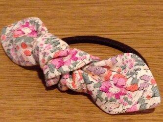 Reon ヘアゴム リバティ帆布ピンクの画像