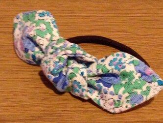 Reon ヘアゴム リバティ帆布ブルーの画像