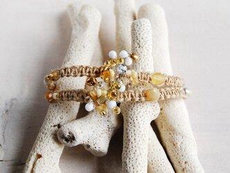 ブレス・チョーカー gold flower:スワロフスキー:の画像