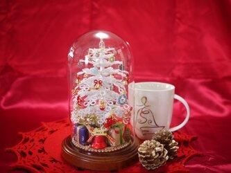 ビーズのクリスマスツリー(ホワイト)サイズ(M)の画像