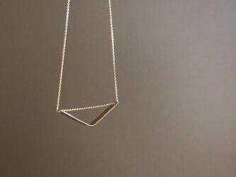真鍮のシェブロンネックレスの画像