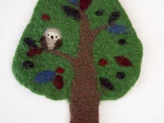 Pot Mat 木のフクロウの画像
