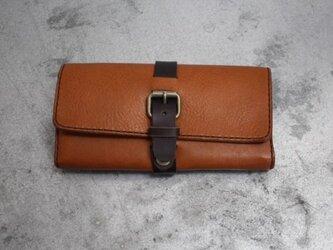 ダミーベルト イタリアンレザー長財布 キャメルの画像