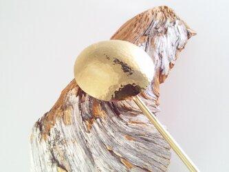 満月2 ◇真鍮鍛金簪(かんざし)◇の画像