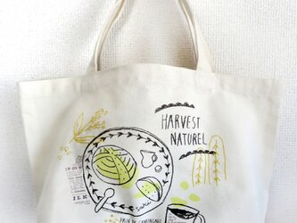 【再販】手刺繍 コットンバッグ(カンパーニュ)の画像