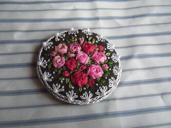 薔薇の刺繍髪飾り[B-5]の画像