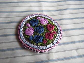 薔薇の刺繍髪飾り[B-6]の画像