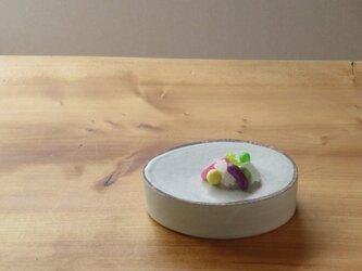 伊豆土lineのたまご台皿(白釉)の画像