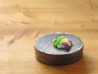 伊豆土lineのたまご台皿(黒釉)の画像