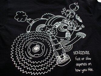 T-シャツ <ENGINE> 黒  Lサイズの画像