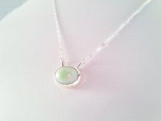 ビルマ産天然翡翠 Silver Necklaceの画像