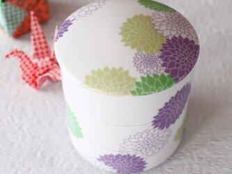 八重咲き菊の三段お重箱(小)・・・Type Aの画像