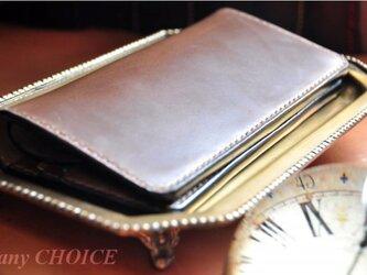 スムースプルアップレザー・長財布(マホガニー)の画像