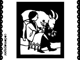切り絵星座「やぎ座」の画像