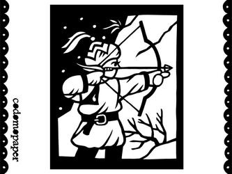 切り絵星座「いて座」の画像