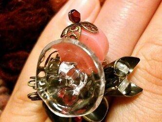 【一点物】ヴィンテージ フランスボタンのデザインリングの画像
