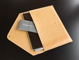 サーフェスプロ3用 本革ケース(手縫い)の画像