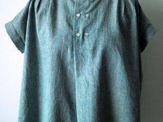 綿麻 フレンチスリーブブラウスの画像