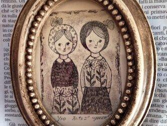 額入り銅版画「ふたご」の画像