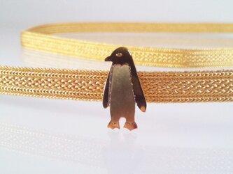 ☆ペンギン☆真鍮帯留めの画像