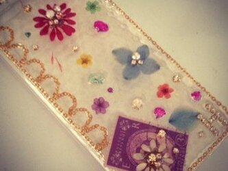 H様オーダー♪色とりどりの花でガーリーIPHONE5 5sケースの画像