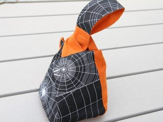 手ぬぐい蜘蛛の糸の手提げ袋の画像
