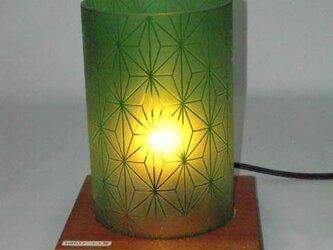 空き瓶ランプシェード「麻の葉」の画像