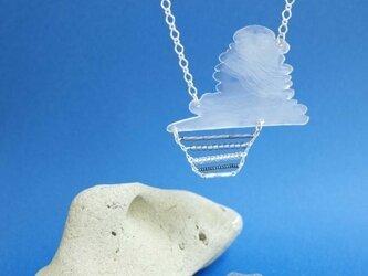 入道雲と水平線のネックレスの画像