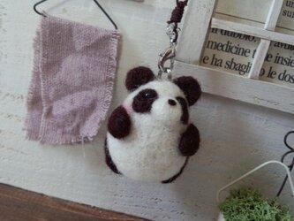 ぷっくりパンダ/ストラップ(1)の画像