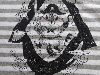 【新作】海賊 リス ボーダー Tシャツの画像