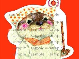 カワウソ 母さん レトロカードの画像
