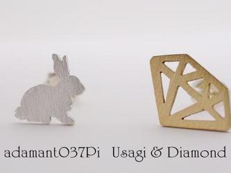 Usagi & Diamond ピアス【adamant】の画像