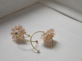 お花のピアス momoの画像