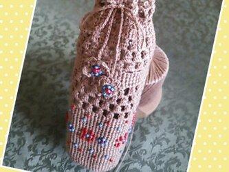 コットンレース糸のペットボトルカバーの画像