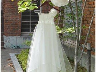 ★2way シャーリング チュチュドレス ピュアホワイトの画像