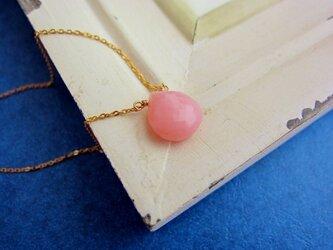 ピンクオパールの細ネックレスの画像