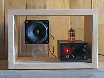 acrylic speaker pine [真空管アンプ内蔵]の画像