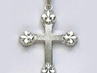 イエス・聖母マリア・教義・聖霊・使徒などを表した作品 アイリス(聖母の象徴)のクロス ac31 好評ですの画像