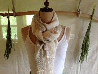 手織りリネンストール「The Veil of Angel」ヘンプの画像